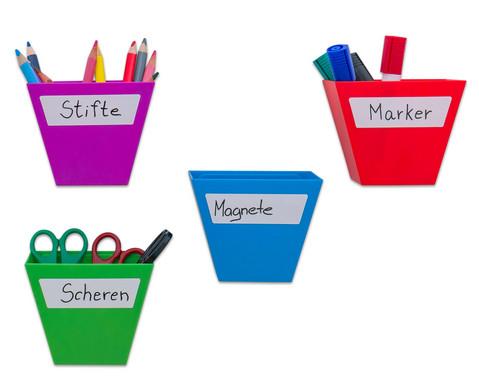 Magnetische Aufbewahrungsboxen Set mit 4 Stueck bunt-3