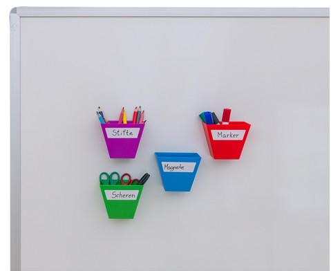 Magnetische Aufbewahrungsboxen Set mit 4 Stueck bunt-4