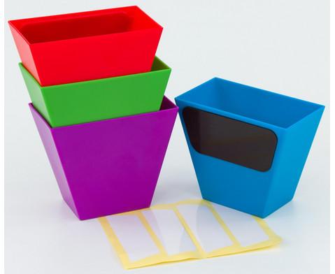 Magnetische Aufbewahrungsboxen Set mit 4 Stueck bunt-5