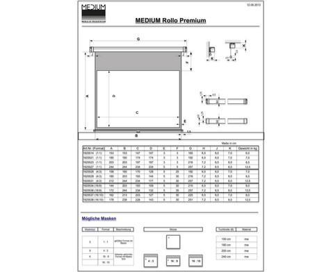 Leinwand Rollo Premium Format 43 mit Umrandung-2