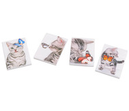 Notizblock Kätzchen, 4 Stück im Set, verschiedene Motive