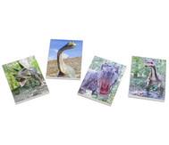Notizblock Dinosaurier, 4 Stück im Set, verschiedene Motive