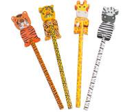 Bleistift Wilde Tiere, 4 Stück im Set, verschiedene Motive