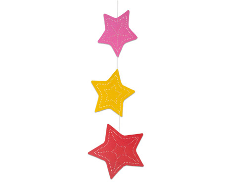 Prickelmobile Sterne 10 Stueck