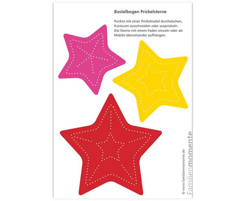 Prickelmobile Sterne 10 Stueck-3