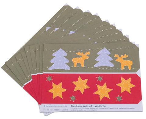 Prickel-Windlichter Weihnachten 10 Stueck