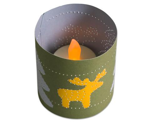 Prickel-Windlichter Weihnachten 10 Stueck-4