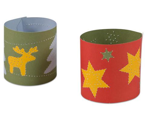 Prickel-Windlichter Weihnachten 10 Stueck-5