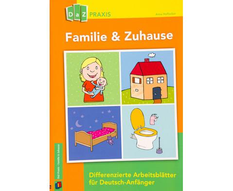 familie zuhause differenzierte arbeitsbl tter f r deutsch anf nger. Black Bedroom Furniture Sets. Home Design Ideas