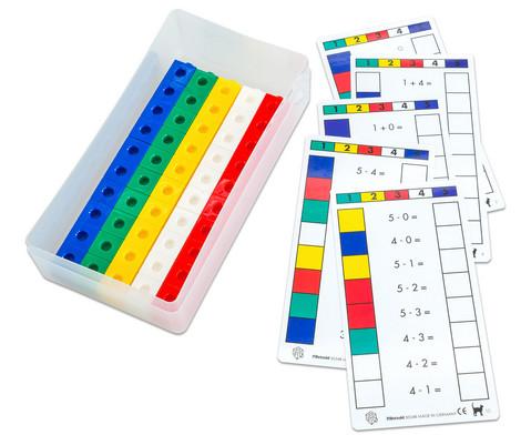 Betzold Steckwuerfel mit Arbeitskarten - Cube Control