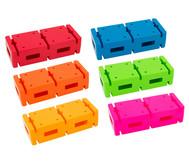 Parcoursteine Regenbogen-Set, 6 Stück
