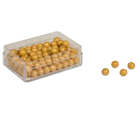 edumero Goldene Perlen, 100 Stück