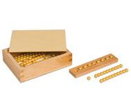 Montessori 10er Rechenperlen, gold