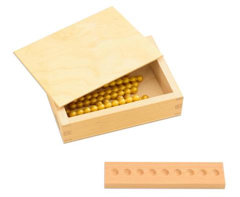 Montessori 10er Rechenperlen gold-2