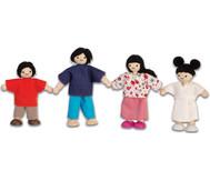 Puppenhausfamilie asiatisch