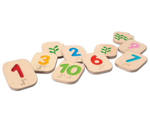PLANTOYS Braille Zahlen 1-10