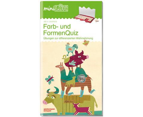 miniLUEK - Farb- und Formenquiz 1 Der Fitmacher fuer Vorschulkinder