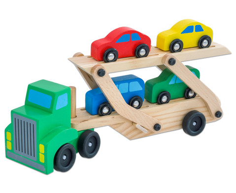 Auto-Transporter aus Holz-1