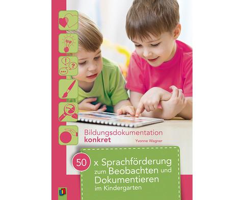 50x Sprachfoerderung zum Beobachten und Dokumentieren im Kindergarten