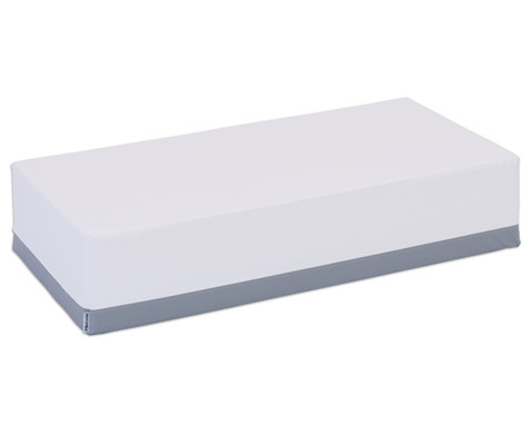 Alba Sofablock 120 x 60 x 25cm weiss-grau - Kunstleder