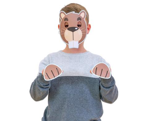 Bunte Tiermasken 7 Stueck-11