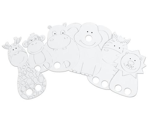 Fingerpuppentiere Safaritiere 6 Stueck-2