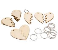 Schlüsselanhänger Halbe Herzen, 12 Stück