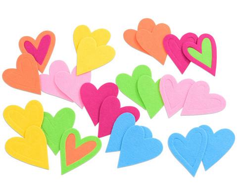 Herzen aus Filz 24 Stueck