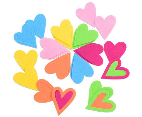 Herzen aus Filz 24 Stueck-2