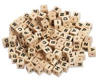 Buchstabenperlen aus Holz, 300 Stück