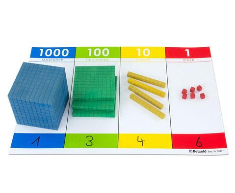 Zehnersystemsatz mit Rechentafel