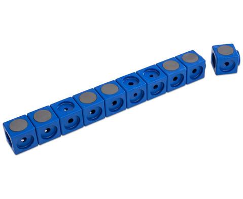 Riesensteckwuerfel-Set magnetisch 40 Stueck rot-blau-8