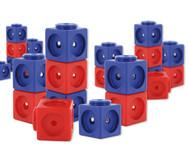Riesensteckwürfel-Set magnetisch, 200 Stück rot-blau