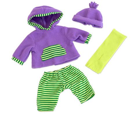 Puppenkleidung mit Muetze und Schal