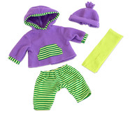 Puppenkleidung mit Mütze und Schal