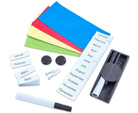 Jahresplaner mit Magnetsymbolen und Marker-3