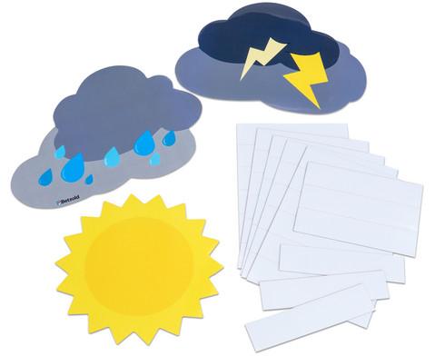 Betzold magnetisches Verhaltens-Wetter mit Namensschildern