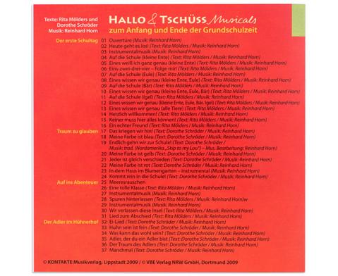 CD - Hallo und Tschuess Musicals-3