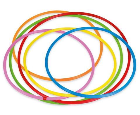 Hula-Hoop-Reifen Regenbogen-Set 6 Stueck