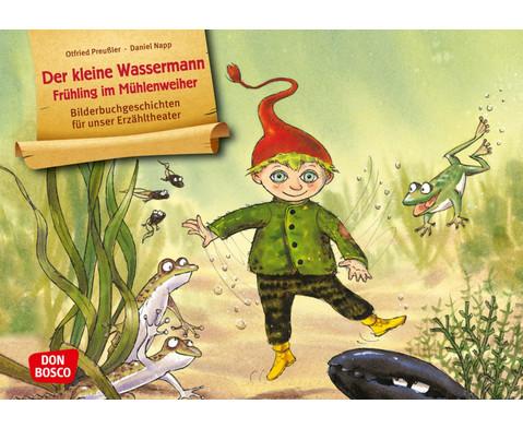 Bildkarten Der kleine Wassermann - Fruehling im Muehlenweiher