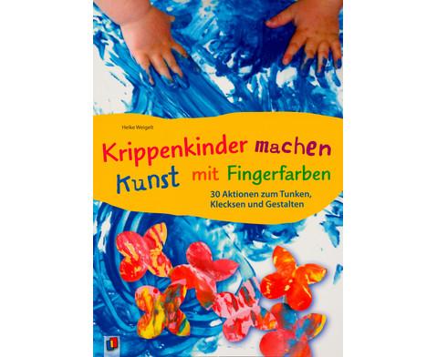 Buch Krippenkinder machen Kunst mit Fingerfarben