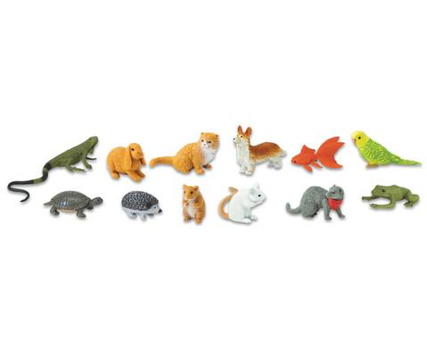 Haustiere Figuren Set 12-teilig