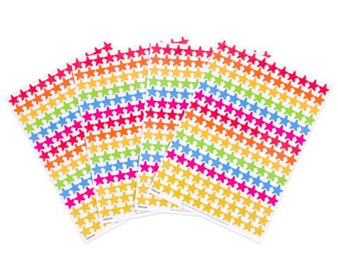 Belohnungssticker bunte Sterne 660 Stueck