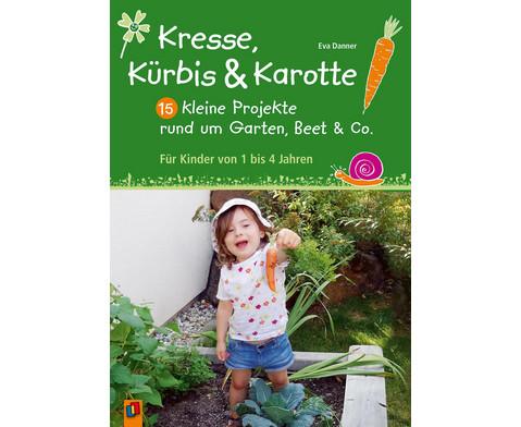 Kresse Kuerbis und Karotte