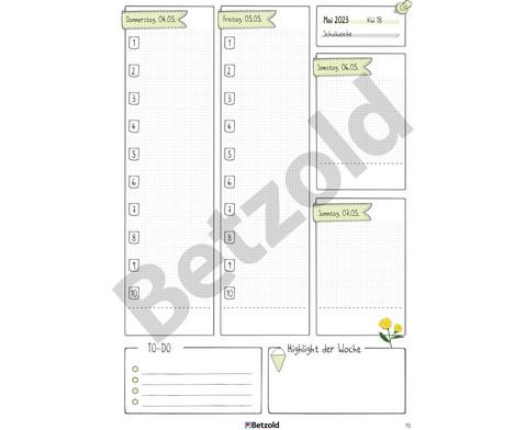 Betzold Design-Schulplaner 2018-2019 Hardcover-9