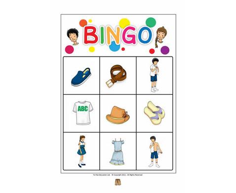 Bildkarten Bekleidung inkl Bingo Spiel-2