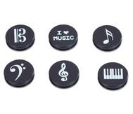 Magnete mit Musiksymbolen
