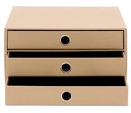 S.O.H.O. – 3er Schubladenbox, Kraft