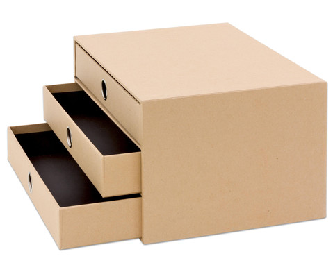 SOHO  3er Schubladenbox Kraft-2