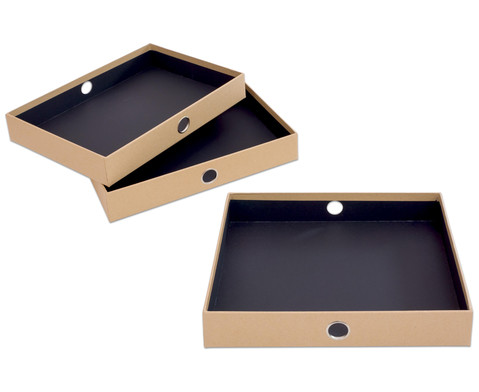 SOHO  3er Schubladenbox Kraft-7